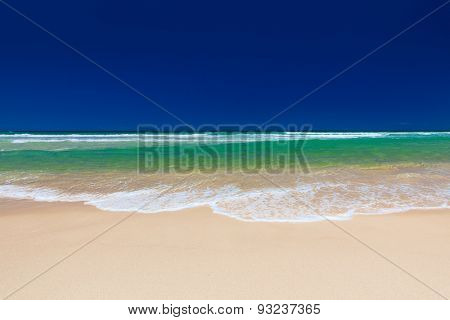 Beach on the east side of Bribie Island, Queensland, Australia