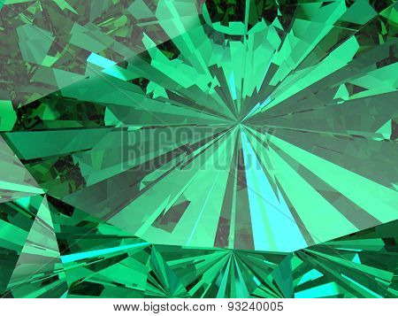 Perfect Emerald  Isolated On A White Background