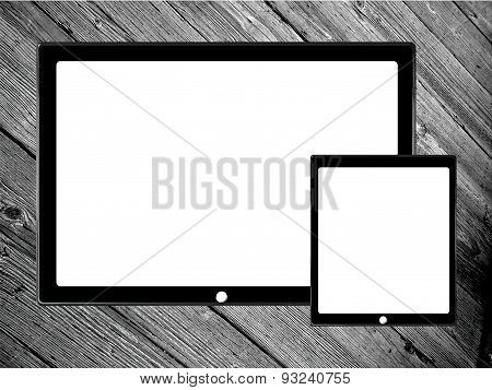 digital tablet and phone