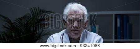 Portrait Of Older Physician