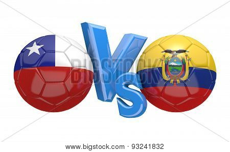 Football competition, national teams Chile vs Ecuador
