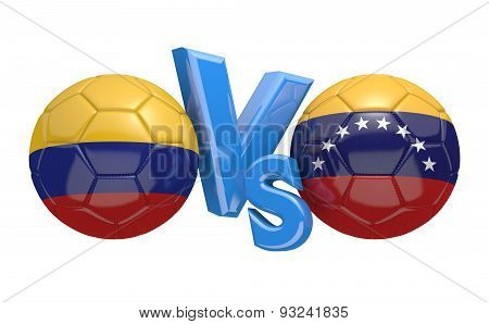 Football competition, national teams Colombia vs Venezuela