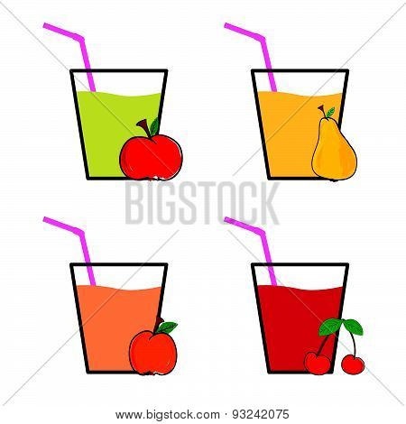 Drink Fruit Colot Vector