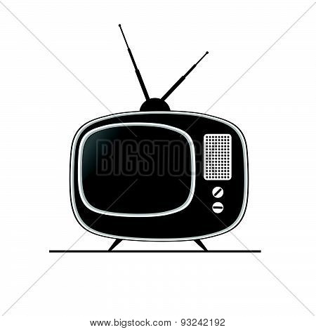 Tv Antique Black Vector