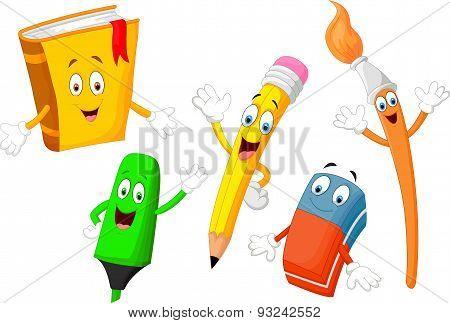 Cute cartoon stationery child