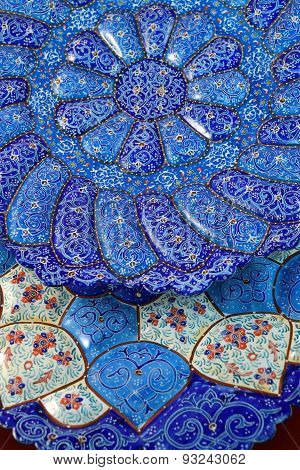 Mina Minakari Handicraft made in Esfahan Naqshe Jahan Square, Iran