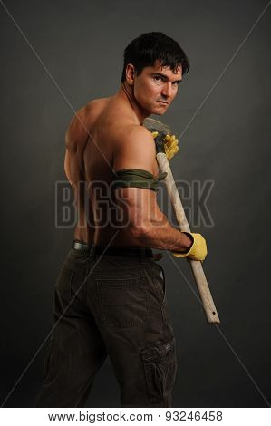 construction man standing