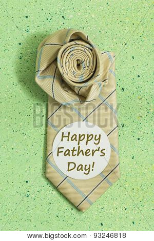 Composition For Father's Day: Tie And Sticker