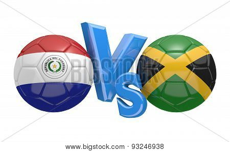 Football competition, national teams Paraguay vs Jamaica
