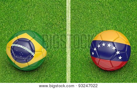 2015 football tournament, teams Brazil vs Venezuela