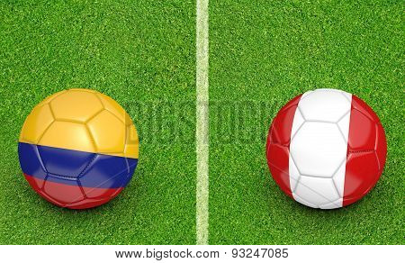 2015 football tournament, teams Colombia vs Peru