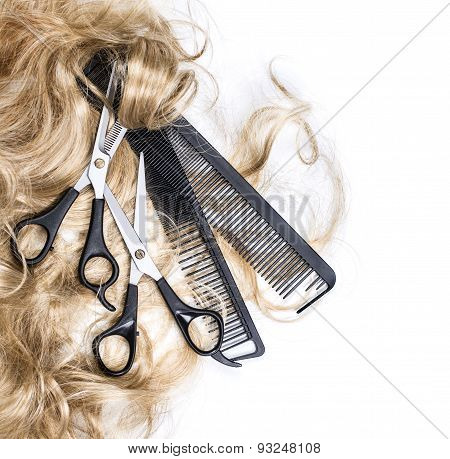 Blond Hair And Scissors