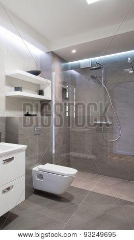 Shower With Glass Door