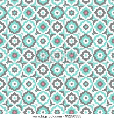 Seamless pattern with floral ornate