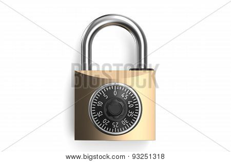Combination Lock Closeup