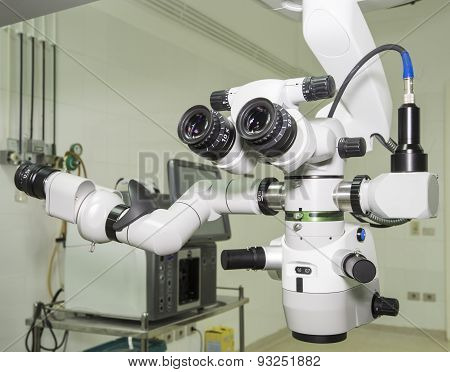 Hi-tech Microscope In An Operating Room