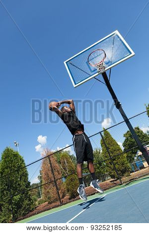 Basketball Dunk from Below