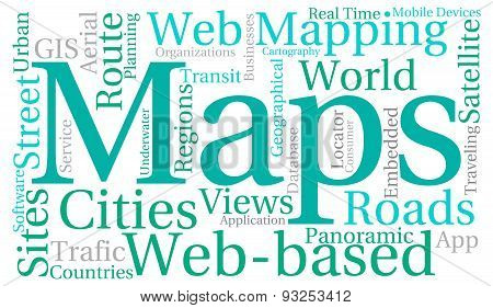 Maps Word Cloud