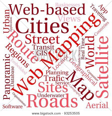 Web Mapping Word Cloud