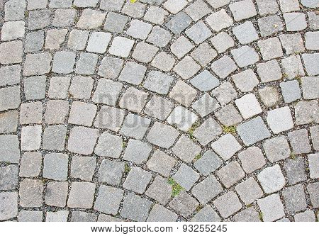 Cobble stone road surface texture