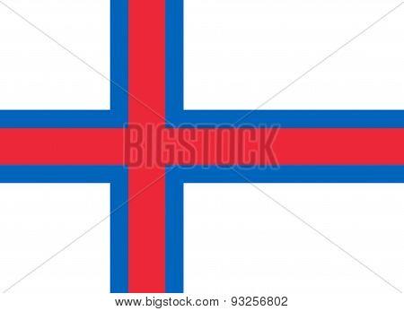 Flag Of Faroe Islands Horizontal