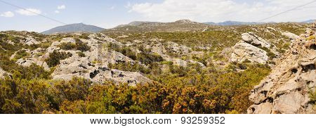 Panoramic view of mountains  in Cap de Creus