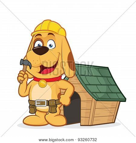 Dog builder with dog house