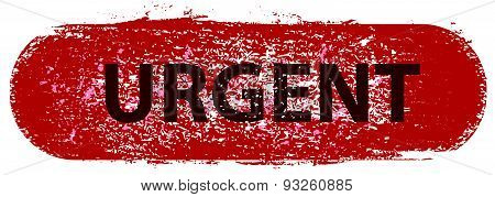Grunge Stamp With Usefull Textures Text Urgent