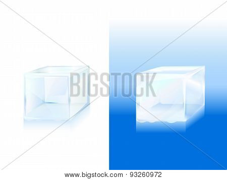 Ice Block Icon Vector Illustration Of Frozen Block