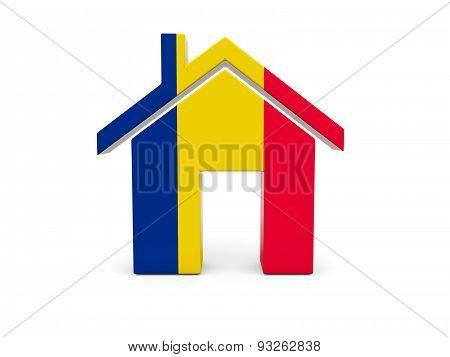 Home With Flag Of Chad