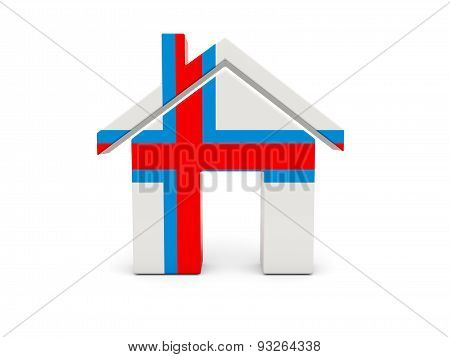 Home With Flag Of Faroe Islands