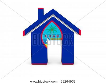 Home With Flag Of Guam
