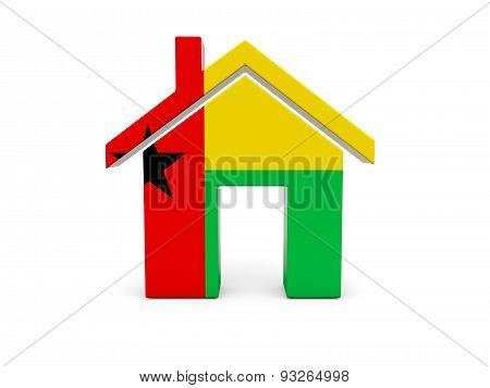 Home With Flag Of Guinea Bissau