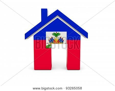 Home With Flag Of Haiti