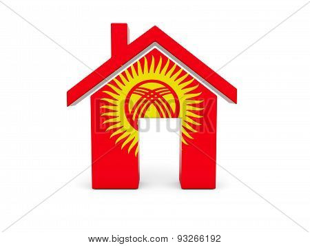 Home With Flag Of Kyrgyzstan