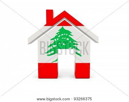 Home With Flag Of Lebanon