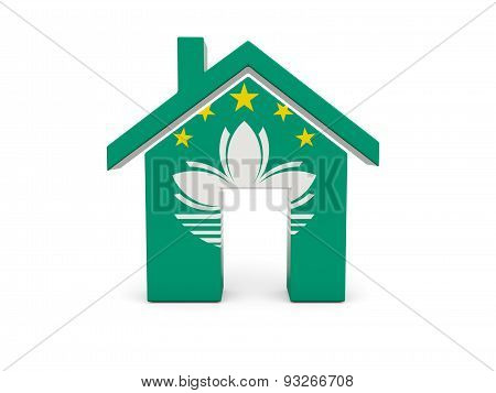 Home With Flag Of Macao