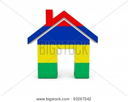 Home With Flag Of Mauritius