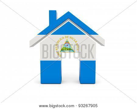 Home With Flag Of Nicaragua