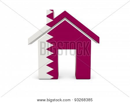Home With Flag Of Qatar