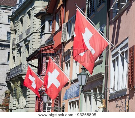 Swiss National Day on August 1 in Zurich, Switzerland.