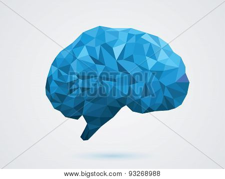 vector illustration of the blue brain