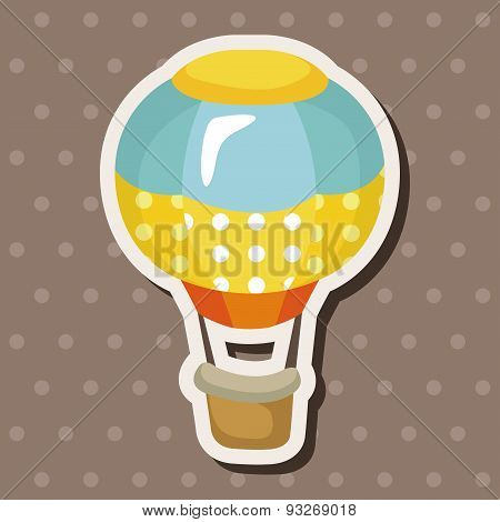Style Hot Air Balloon Theme Elements