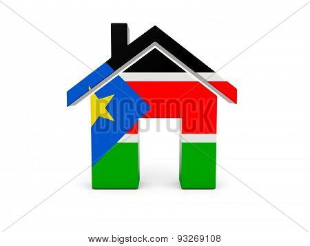 Home With Flag Of South Sudan