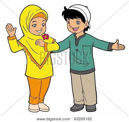 Asian Muslim Kids