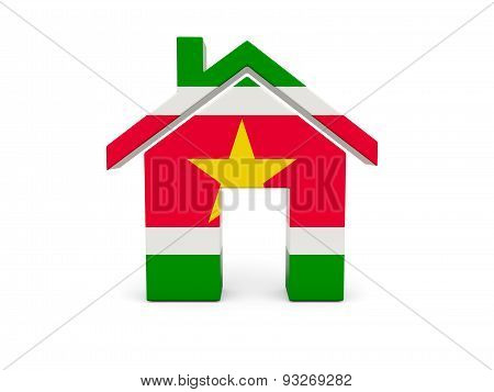 Home With Flag Of Suriname