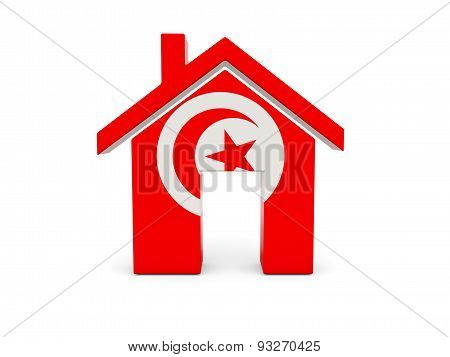 Home With Flag Of Tunisia