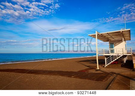 Almeria Cabo de Gata San Miguel beach lifeguard house in Spain