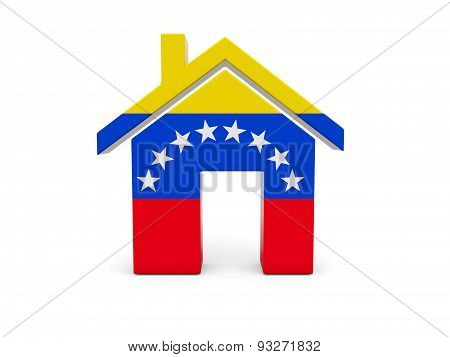 Home With Flag Of Venezuela