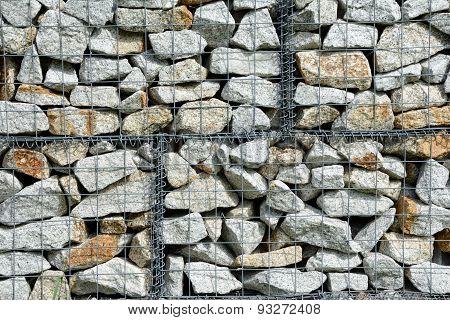 Stones In Wire Net